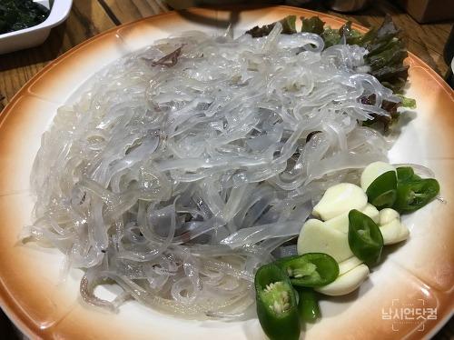 안동맛집 옥동 자갈치회수산 오징어회
