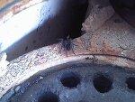 연탄보일러 안에 사는 연탄벌레(까만거미)?