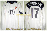 04/06 Portugal Away L/S No.17 C.Ronaldo Match Issued (Vs. Canada) (SOLD OUT)