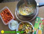 스파게티 면으로 끓이는 칼국수