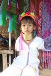 태국의 소수민족 카렌족 여자아이