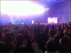 안철수 팬클럽 해피스, 5천여명 모여 인산인해