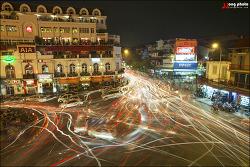 [베트남여행] 하노이의 밤 오토바이가 그린 그림