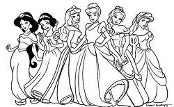 디즈니 공주님들 색칠공부 대형 1종