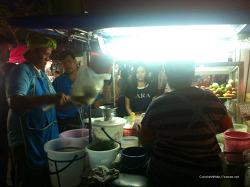[음식]태국 즉석 국수만들어 쏨땀과 함께 먹는 맛이란?