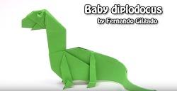 아기 디플로도쿠스 공룡 종이접기