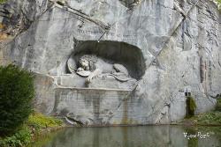 스위스여행]프랑스대혁명과 스위스용병의 이야기가 담긴 루체른 빈사의 사자상(Luzern Lion Monument, Löwendenkmal)