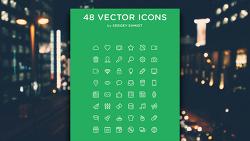→ [상업무료] 48개의 무료 라인콘(아이콘) - PNG, PSD, AI, SVG, Webfont, PDF!