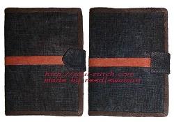 쪽염색 여권지갑