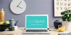 13인치 맥북 에어의 화면을 터치스크린으로 만들어 주는 'AirBar'