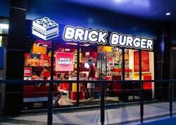 필리핀에 있는 레고 버거를 파는 브릭 버거스