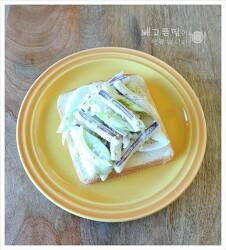 샐러드로 한끼 해결하기...오이오징어샐러드 샌드위치