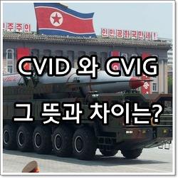 CVID 와 CVIG 뜻과 차이는?