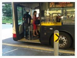 한국 버스 그리고 싱가포르 버스