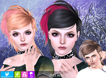 NewSea-SIMS3-hair-J185-ACID