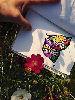 [지후나무작업실] 임진각 공원 근처 꽃에 선물한 나비