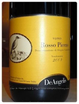 달고 고소한 느낌에 신선한 과일 기운이 돋보이는 와인 - De Angelis Rosso Piceno 2009