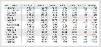 코스피, 코스닥 공매도(공매도량) 순위 (11월 11일)