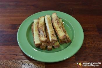 노오븐~ 딱딱한 식빵을 단짠~쫀득하게~'식빵러스크 만들기'