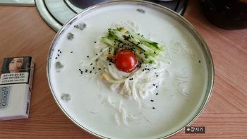 안성일죽 맛집 고향마루 계절메뉴 강추, 서리태 콩국수.