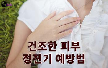 건조한 피부 정전기 예방법