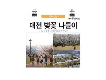 봄소풍 가자! 대전 벚꽃 봄나들이 BEST 5