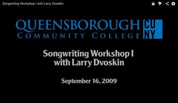 래리 드보스킨 송라이팅 워크샵 : 1회차 ~ 3회차  ( Songwriting Workshop with Larry Dvoskin )
