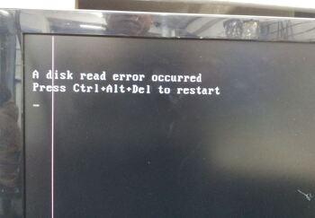 성남 컴퓨터수리, A disk read error occurred 노트북청소,비디오카드 불량