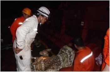 SK해운, 대서양에서 화재 선박 선원 전원 구조!