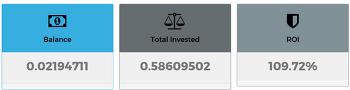 마이닝 봇, 수익률 109.72% 원금 회수 수익 중.