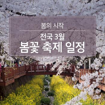 봄의 시작, 전국 3월 봄꽃축제 일정