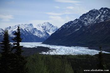 """알래스카 """" 빙하와 노을 """""""