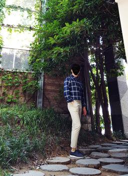 남자 체크남방 코디 [포에버21] 남자 체크셔츠 코디 with 치노팬츠