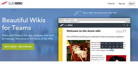 지식공유 서비스 - SlimWiki
