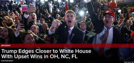미 대선 결과, 트럼프 승리할 듯, 공화당 상원 하원 승리 가능