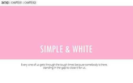 심플하고 간단한 핑크색 파워포인트 디자인 양식