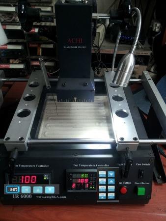 BGA 리웍장비 ACHI IR6000 히터 온도 조절 및 사용 설명