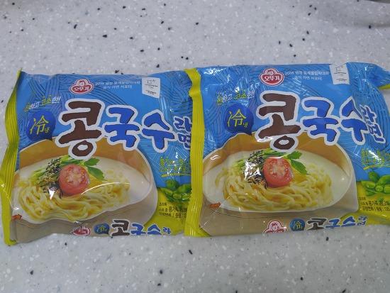 냉콩국수-오뚜기 솔직후기!!