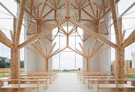 *일본 프랙털 기하학 구조의 채플-[yu momoeda uses fractal geometries to create tree-inspired chapel in japan]