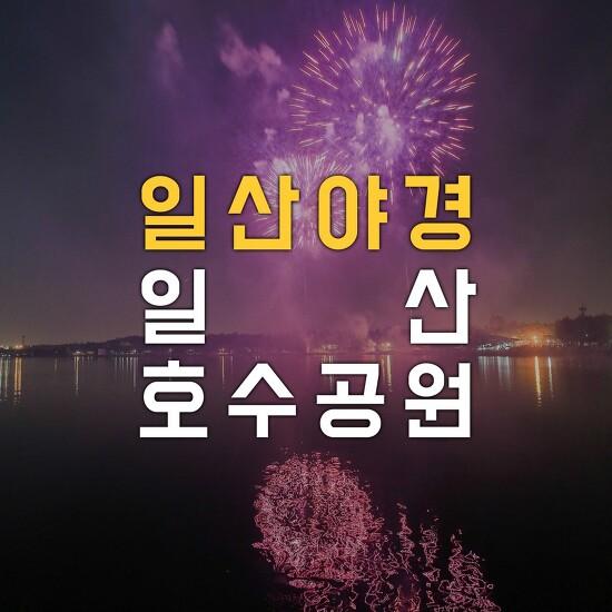 [나이트뷰 - 일산야경] 일산호수공원에서 고양국제꽃박람회 개막식이 있던 날 불꽃놀이를 구경했습니다~!