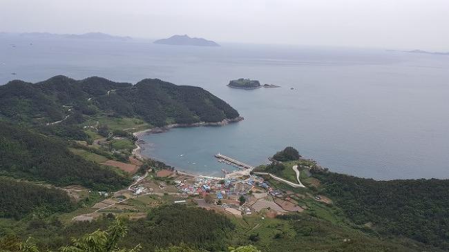 통영의 아름다운 섬 사량도 상도를 비박 종주하..