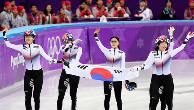 쇼트트랙 여자 3000m 계주도 '금빛 질주'
