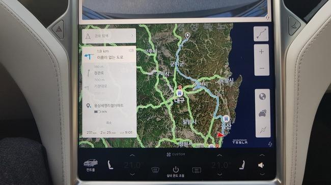 테슬라 모델S 100D 부산-안동 왕복 후기