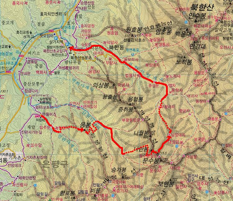 [북한산 등산코스] 삼각산의 오지탐험 제53탄: 음산한월한계곡
