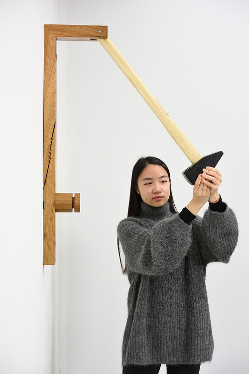 georg kloeck's nutcracker breaks nuts with a sledgehammer