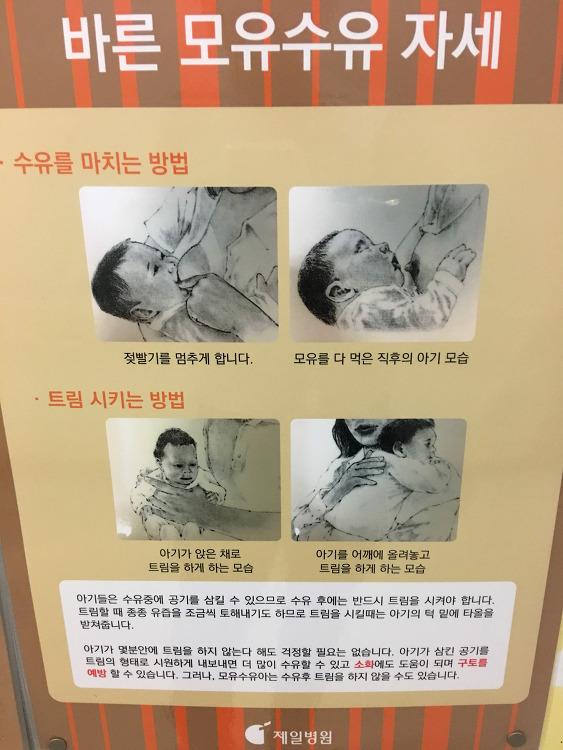 제일병원에서 본 바른 모유수유 자세