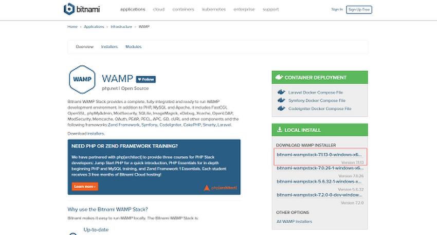 Bitnami WAMP 비트나미 설치하기