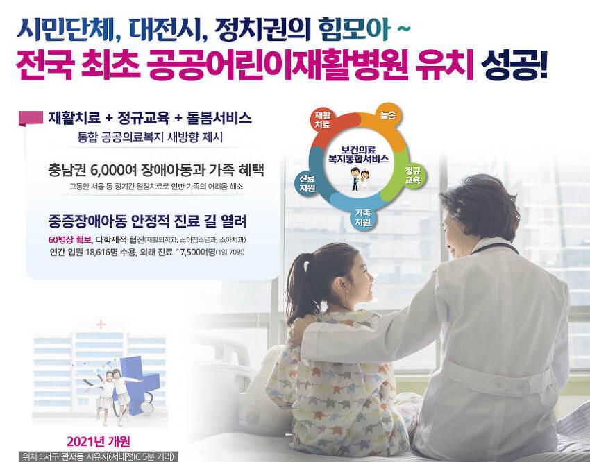 2018. 8월 대전시정핫뉴스 공공어린이재활병원 유치 성공!