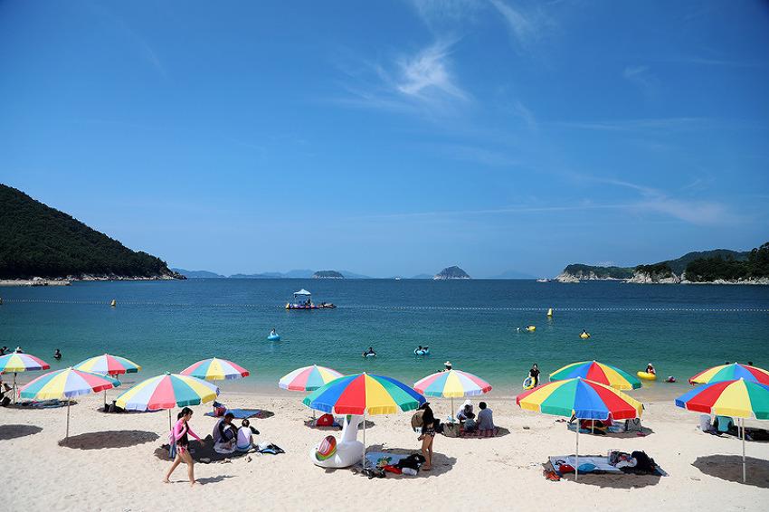 산호빛 바다와  은빛 모래가 펼쳐지는 통영 비진도 해수욕장!! (통영 해수욕장/통영명소/통영여행)