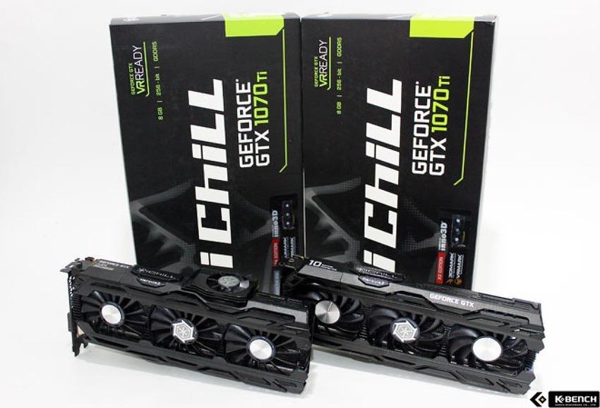 Inno3D iChiLL 지포스 GTX1070 Ti D5 8GB X3, X4